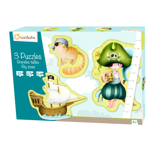 3 Puzzles géants Pirates