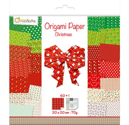 20 x 20 cm Avenue Mandarine Origami Paper Christmas 70 g