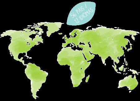 56 países / 12 idiomas